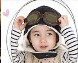 Black Aviator Children's Hat